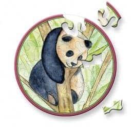 panda mini puslespil