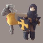 filtridder med hest gul