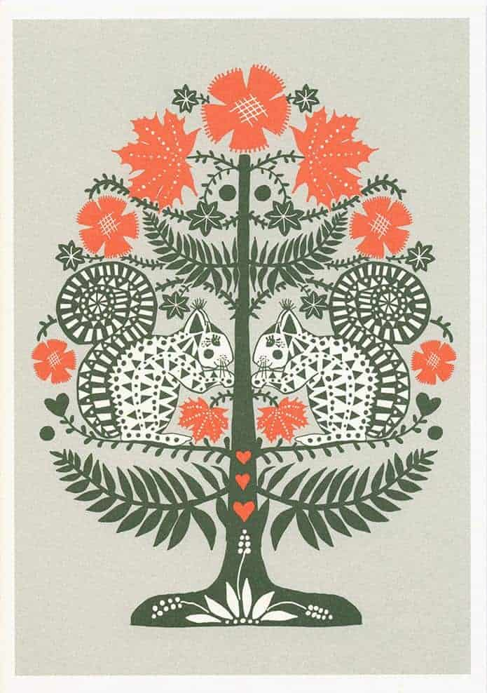 Efterårs egern - stort postkort