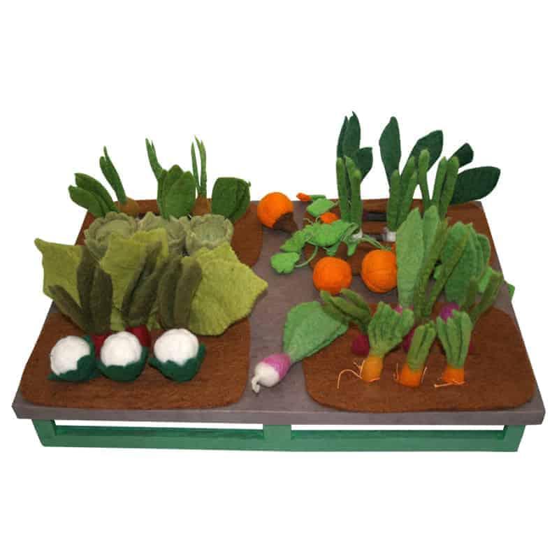 grøntsagshave i filt uldfilt legemad