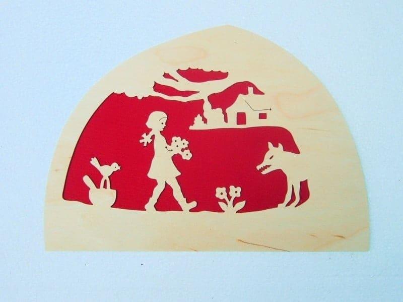 Silhuet - den lille Rødhætte