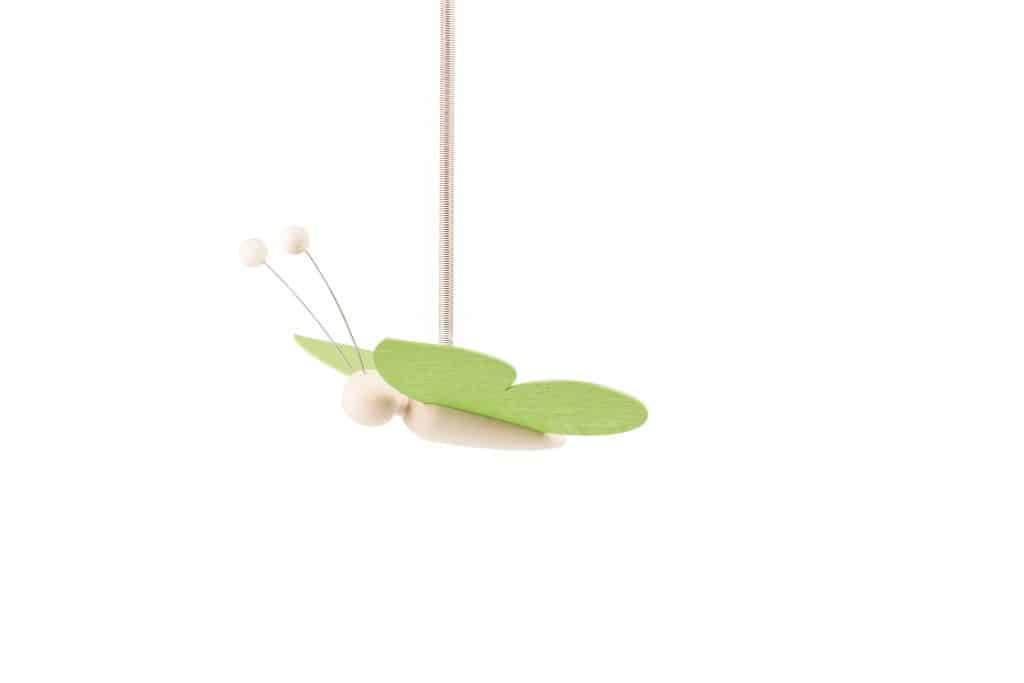 Sommerfugl med fjeder - Grøn